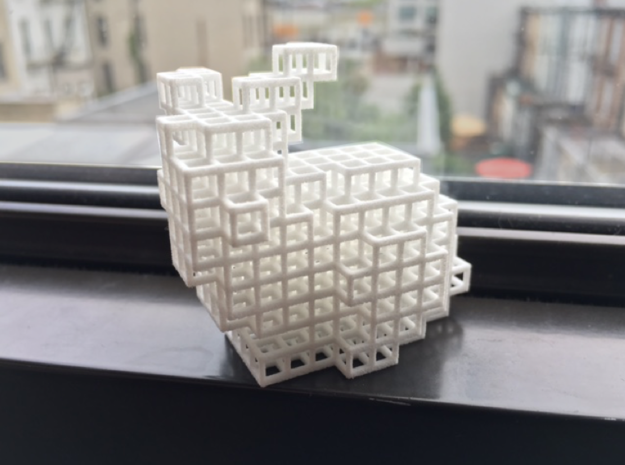 Voxel Bunny in White Natural Versatile Plastic