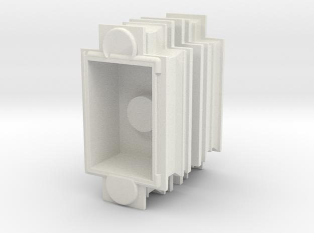 Modesto Arch Pillar Top 1:48 in White Natural Versatile Plastic