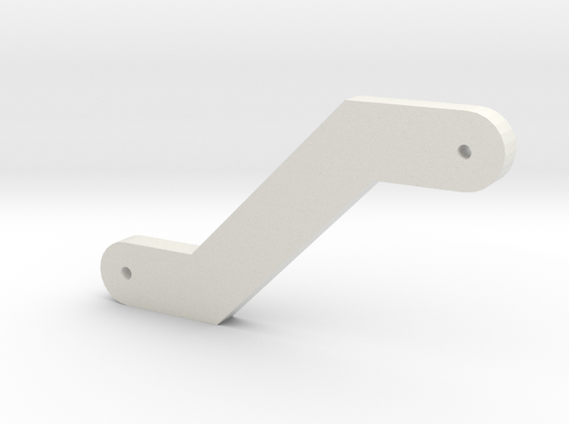 Silent Running: drone arm part in White Natural Versatile Plastic