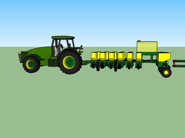 N JD 16 Row Planter TRANSPORT  in Frosted Ultra Detail