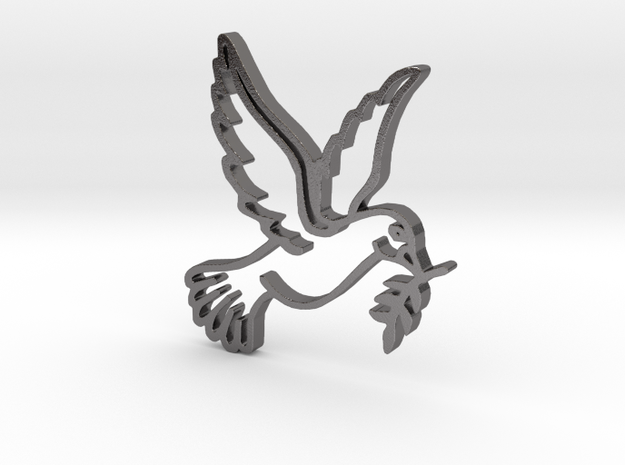 Dove in Polished Nickel Steel