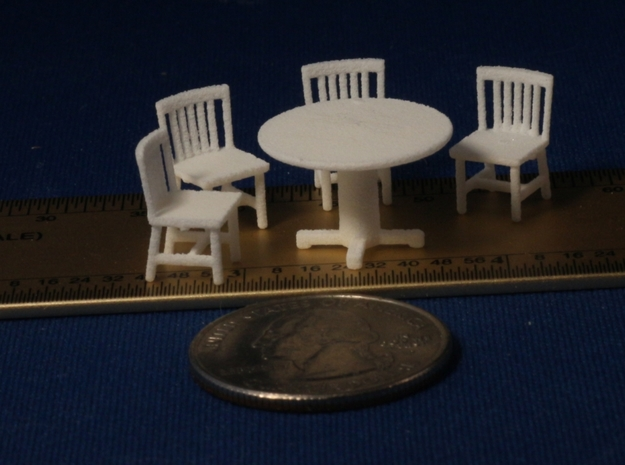 S Scale Round Tables x5 and Chairs x20 in White Strong & Flexible