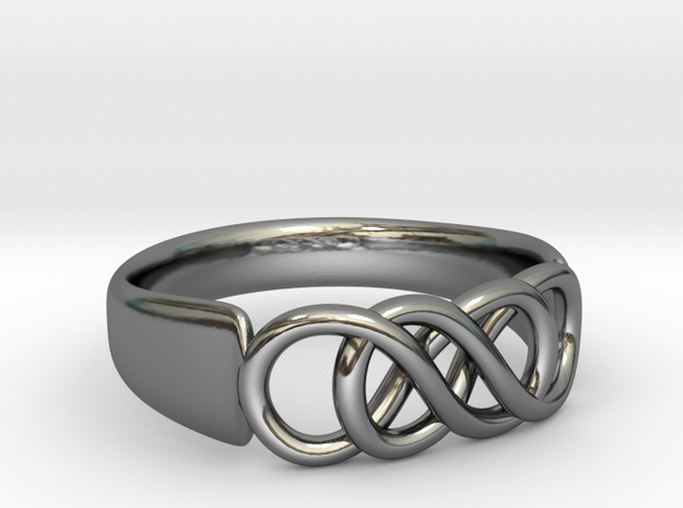 Double Infinity Ring 16.5mm size 6