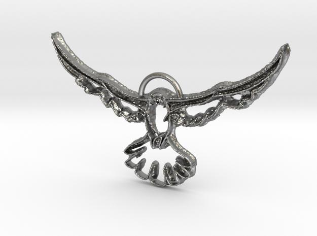 Brick Pendant in Natural Silver