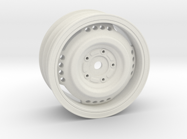"1.9"" RC Wheel (+6mm offset) in White Natural Versatile Plastic"