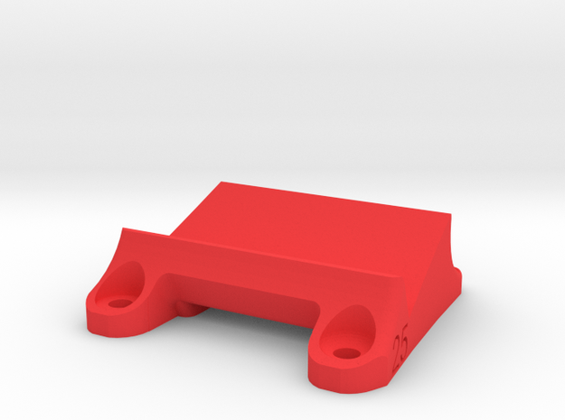 DemonRC NOX5 - 25° GoPro Xiaomi Yi MOUNT in Red Processed Versatile Plastic
