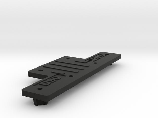 Extension CC01 to D90 Gelande 1:10 1/3 in Black Natural Versatile Plastic