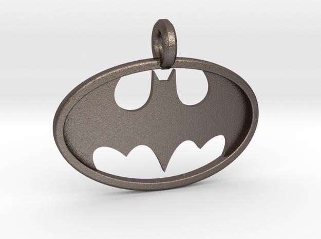 Classic Batman Keychain in Polished Bronzed Silver Steel
