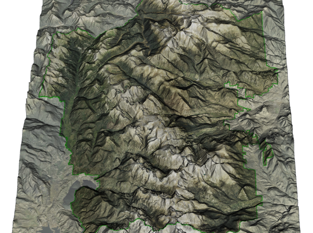 Rocky Mountain National Park Map in Glossy Full Color Sandstone