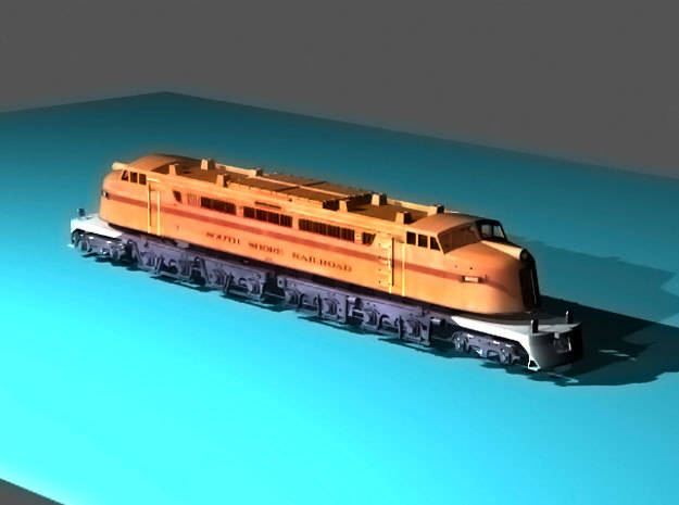 NScale EF4 Little Joe / 800, South Shore Railroad in Smooth Fine Detail Plastic
