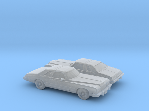 1/160 2X 1976 Buick Riviera in Smooth Fine Detail Plastic