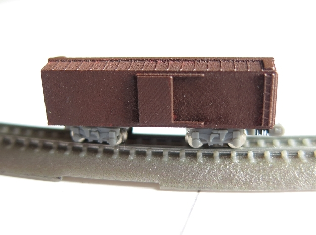 1/450 US 40ft wood boxcar body in Smooth Fine Detail Plastic