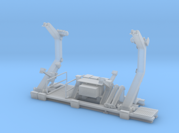 1/96 scale double arm boat Davit in Frosted Ultra Detail