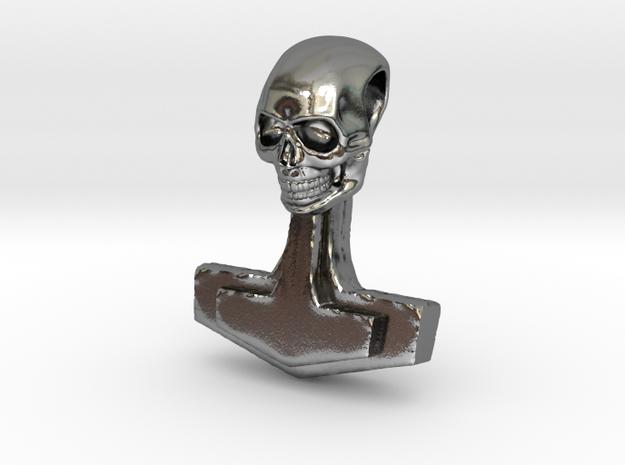 Schädelhammer 01 in Polished Silver