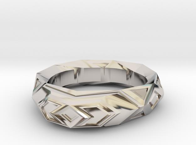 Fractal polygon ring (size 8.5 default)