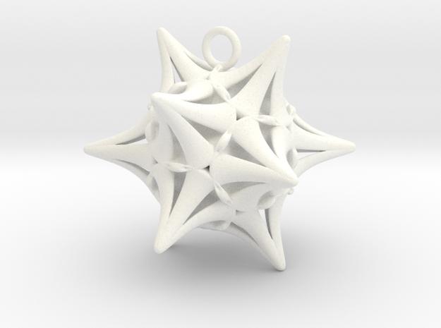 Ersilia -Pendant- in White Strong & Flexible Polished