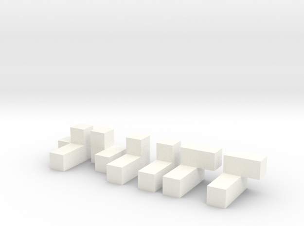 3x3x3 Puzzle in White Strong & Flexible Polished