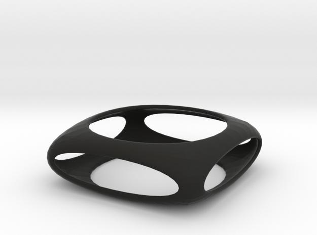 Bangle Box (size XS) in Black Natural Versatile Plastic