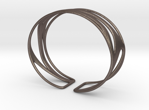 Inspired Curves (size XS) in Polished Bronzed Silver Steel