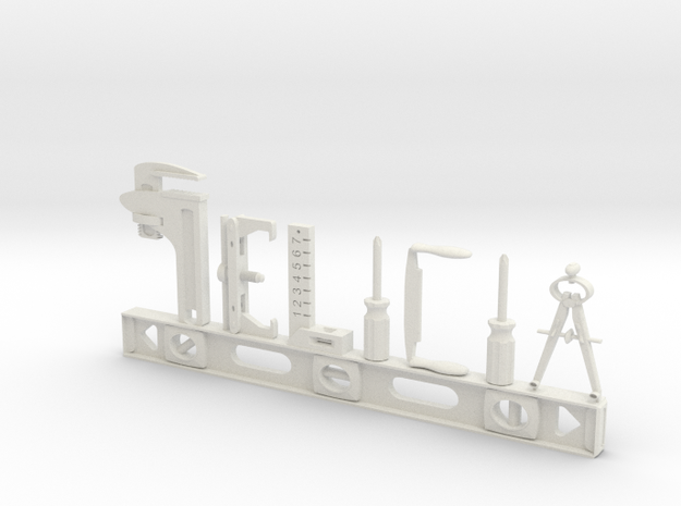 Felicia Nametag in White Natural Versatile Plastic