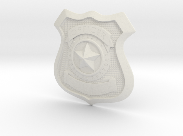 Zootopia Police Officer Badge in White Natural Versatile Plastic