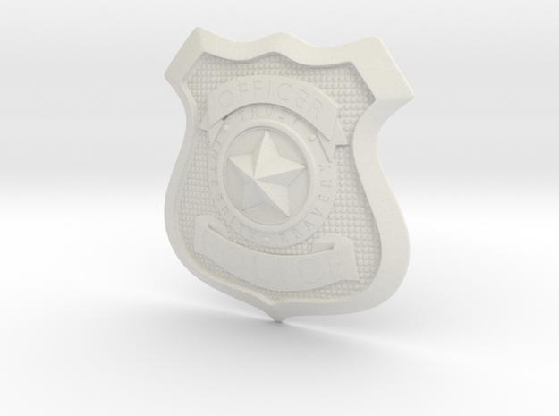 Zootopia Police Officer Badge in White Natural Versatile Plastic