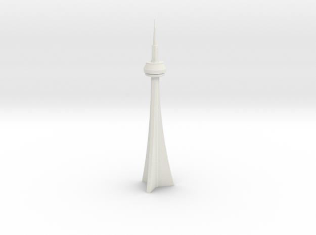 CN Tower (1/2000) in White Natural Versatile Plastic
