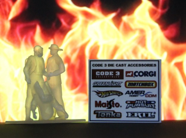 Level A Hazmat Doffing w/ Firefighter, 1/64 in Smooth Fine Detail Plastic