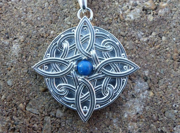 Amulat of Mara - NO GEM in Polished Silver