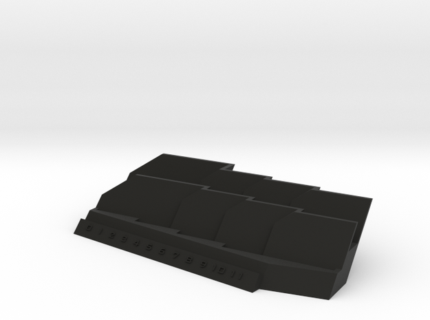 Basic Armada Ship Tray in Black Strong & Flexible