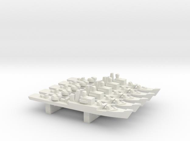 Riga-class frigate x 5, 1/2400 in White Natural Versatile Plastic