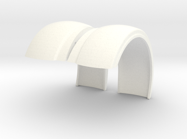 Pete Style Custom Fender 1 in White Processed Versatile Plastic