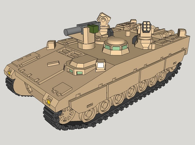 1/285 CV90 Armadillo (2pcs)  in Smooth Fine Detail Plastic