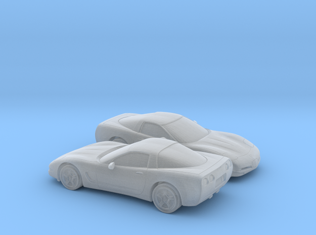 1/160 2X 1997-2004 Chevrolet Corvette C5 in Frosted Ultra Detail