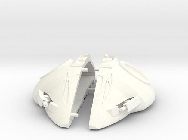 Stargate Nakai (Blue Alien) fighter KIT in White Processed Versatile Plastic