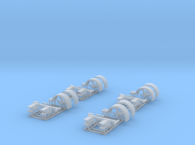 1/64 Header Trailer replacement parts X4 in Smooth Fine Detail Plastic