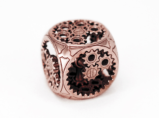 Gears Delirium I - D6 in Polished Bronze