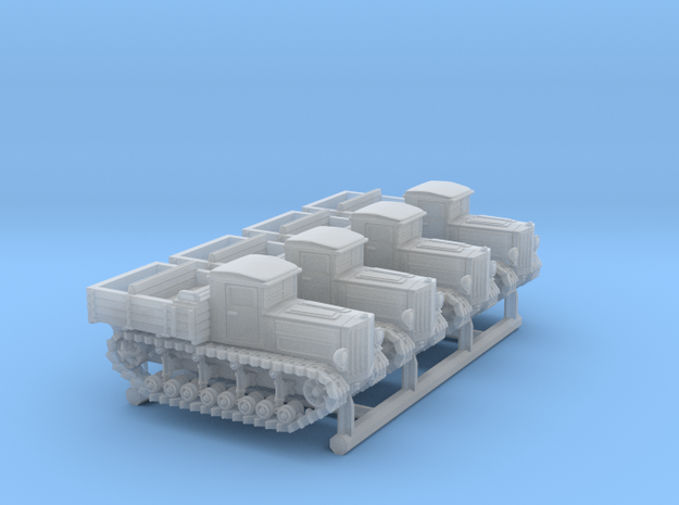 Komintern Tractor (6mm 4-up) in Smooth Fine Detail Plastic