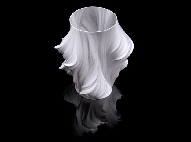 Julia Vase #011 - Heatwave in White Natural Versatile Plastic