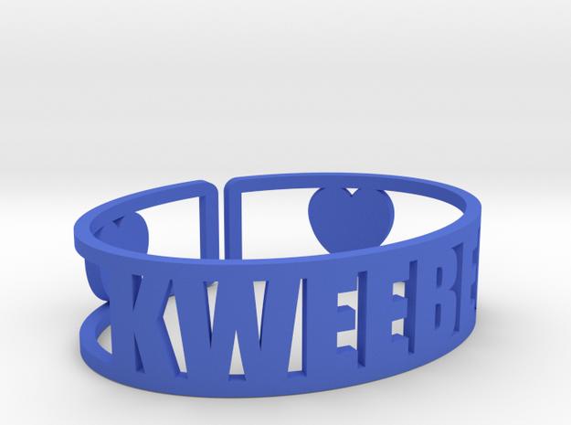 Kweebec Cuff in Blue Processed Versatile Plastic