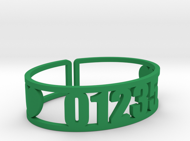 Romaca Zip Cuff in Green Strong & Flexible Polished
