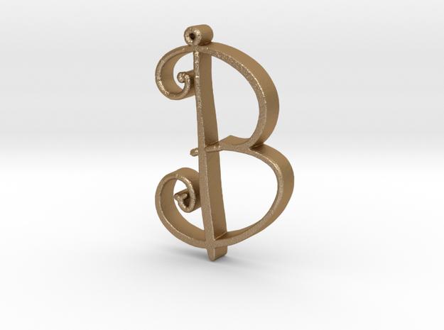 B in Matte Gold Steel
