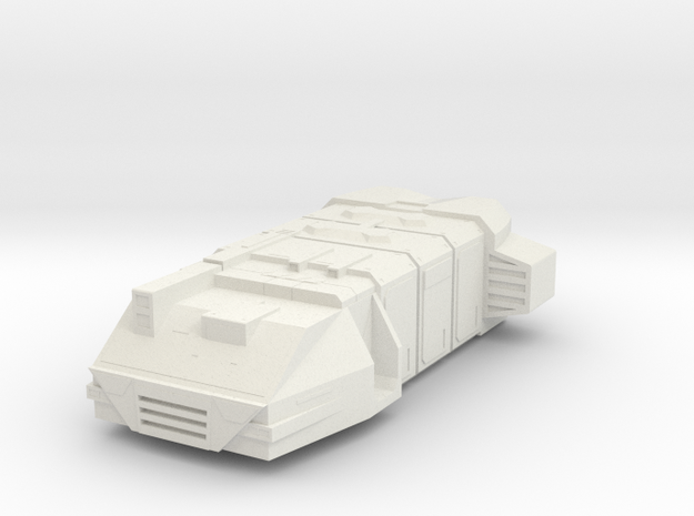Mini Cargo Ship in White Natural Versatile Plastic