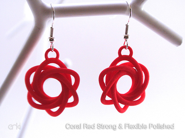 Flourish - Earrings in Blue Processed Versatile Plastic