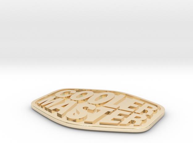 Cooler Master MasterCase 5/Pro/Maker Case Badge in 14k Gold Plated
