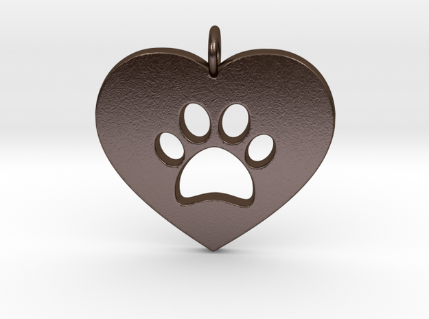 Pet Love in Polished Bronze Steel