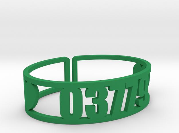 Walt Whitman Zip Cuff in Green Processed Versatile Plastic
