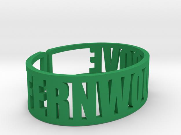 Fernwood Cove Cuff in Green Processed Versatile Plastic