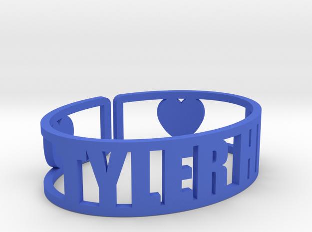 Tyler Hill Cuff in Blue Processed Versatile Plastic
