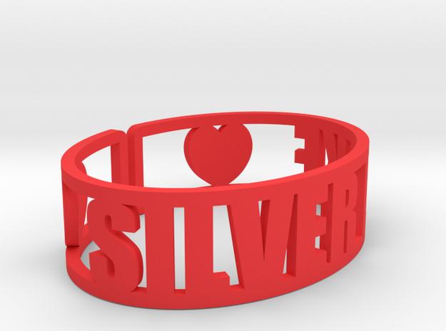 Silver Lake Cuff in Red Processed Versatile Plastic
